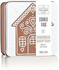 Scottish Soaps Soap In A Tin Cookie - Gingerbread 100g