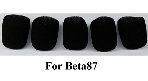 BOLY A85WS Black Foam Windscreen for SM85, SM86, SM87A and BETA87A, and BETA87C ()