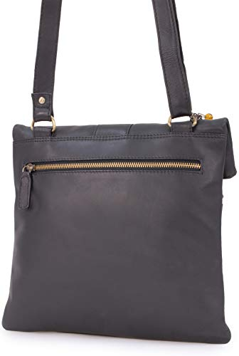 Bolso nero Bandolera Collection Negro Dispatch Catwalk schwarz Cuero ExqB6Pnw4