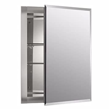Amazon.com: Mirrored Wall Mount Medicine Cabinet Shelf Shelves ...