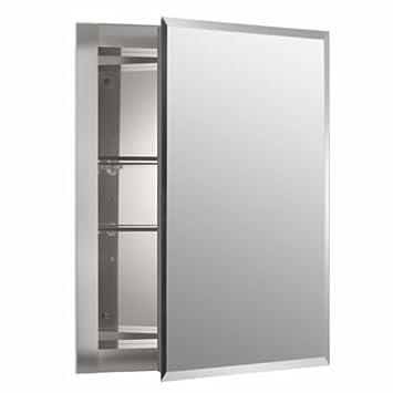 Mirrored Wall Mount Medicine Cabinet Shelf Shelves Bathroom Aluminum Glass  SALE