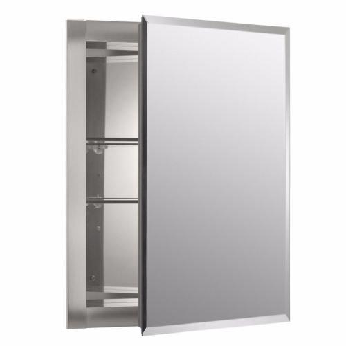 Mirrored Wall Mount Medicine Cabinet Shelf Shelves Bathroom Aluminum Glass -
