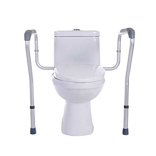 SUKONG Toilet Rail Bathroom Safety Frame for Elderly, Handicap and Disabled Toilet Safety Handrail Adjustable Height