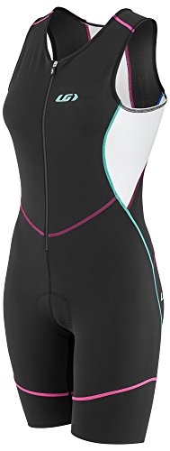 Louis Garneau Women's Tri Comp Breathable, Padded, Sleeveless Triathlon Cycling Suit, Multicolor, ()