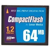 Digital Film Compactflash Card - Ritz Big Print Digital Film by Lexar Media - Flash memory card - 64 MB - CF