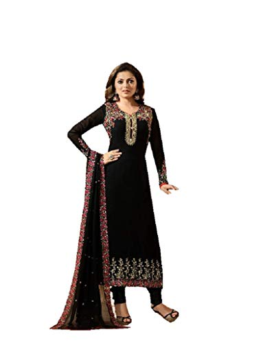 Fashionable Designer Straight Salwar Kameez LT Nitya 2201-2208 (Black, XXL-46)