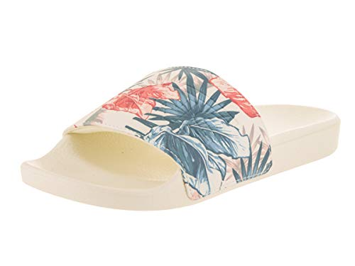 Vans Women's Slide-On (Vintage Rio) Vintage Rio/Marshmallow Sandal 10 Women US