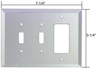 CRL 2x Toggle and Decora Glass Mirror Plate - Clear