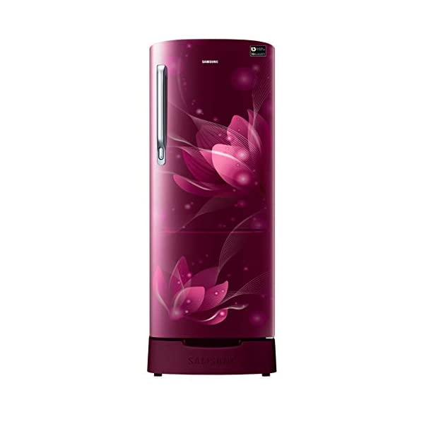Samsung 192 L 3 Star Direct-Cool Single Door Refrigerator (RR20T282YR8/NL, SAFFRON RED) 2021 July Direct-cool refrigerator : Economical and Cooling without fluctuation Capacity 192 liters: Suitable for families with 2 to 3 members and bachelors Energy rating 3 Star : high efficiency model