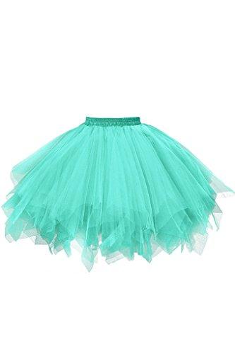 Musever 1950s Vintage Ballet Bubble Skirt Tulle Petticoat Puffy Tutu Mint Large/X-Large -