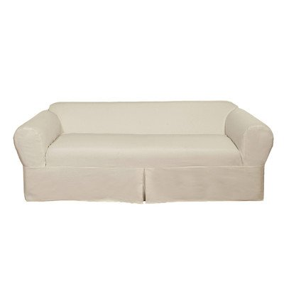 Brushed Twill Sofa Slipcover Color: - Brushed Sofa Slipcover Twill