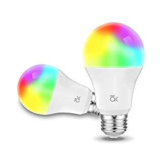 Smart Light Bulb, AL Above Lights Dimmable E26 9W Wi-Fi LED Smart Bulb, Works with Alexa, Echo, Google Home and Siri, Soft White (2700K), 60W Equivalent, 810 LM, RGB+W, ETL Listed - 2 Packs