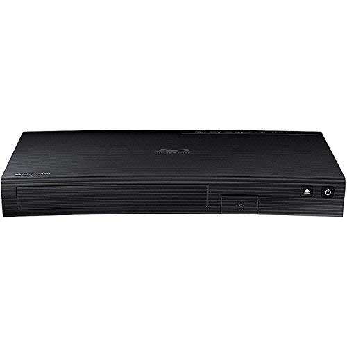 Samsung Smart WIFI Blu-Ray Disc Player with 1080p HD, Plays Blu-ray Discs, DVDs & CDs, with 6-Feet High Speed HDMI Cable, Black