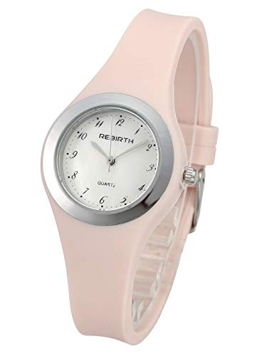 Top Plaza Jelly Analog Quartz Watch Pink Silicone Band Waterproof Outdoor Running Sport Watch Simple Casual Arabic Numerals Wrist Watches for Women Girl