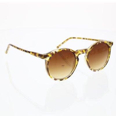 Gangnam Style Costume - Gangnam Psy Style Round Costume Sunglasses Brown Tortoise