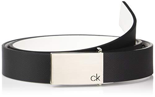 (Calvin Klein Men's 30mm Textured Leather Belt, black, 42)