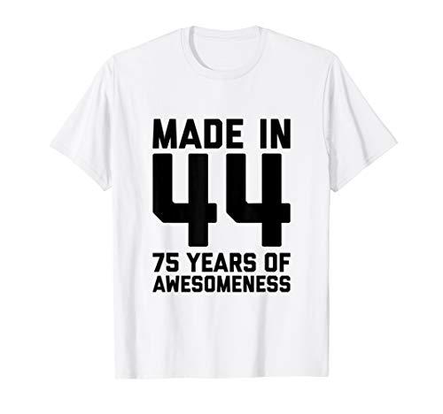 75th Birthday Shirt Women Gifts Grandma Age 75 Year Old Mom