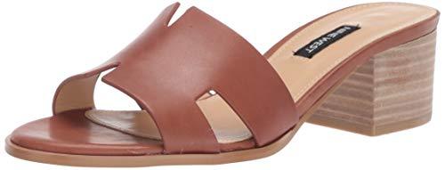 Nine West Women's wnAUBREY Heeled Sandal, Brown, 6.5 M US