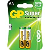 Replacement For 15A-C2 GP AA SUPER ALKALINE BATTERY 2PK CARDED Battery 10 PACK