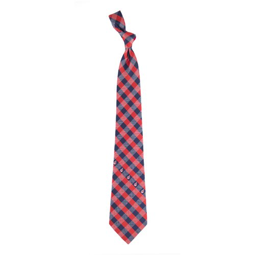 Cleveland Indians Check Poly Necktie