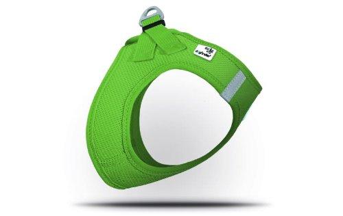 CURLI Brustgeschirr Plush Vest AIR-MESH SUMMER green für Hunde M (41 - 45cm)