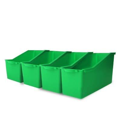 4ct Plastic Connectable File Folder Green - Bullseye's Playground153; Green