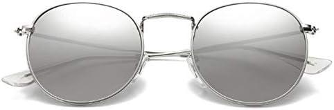 ZJIEJ Lunettes de Soleil Round Sunglasses Women Designer Metal Sun Glasses Classic Retro Outdoor Eyewear