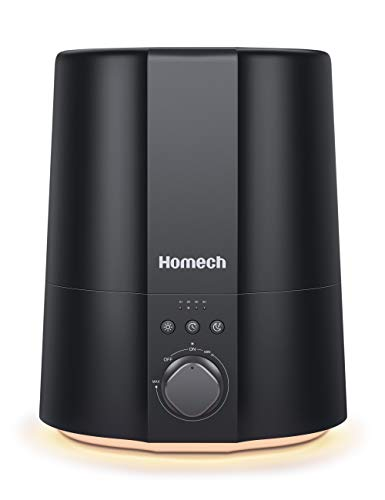 Humidifiers for Bedroom, Homech 2.5L Small Cool Mist Humidifier, 28dB Quiet Ultrasonic Air Humidifiers for Baby, Plants…