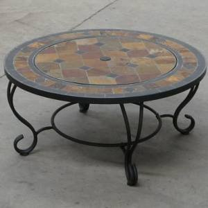Trueshopping Villa Beacon Fire Pit 89 cm and Coffee Table