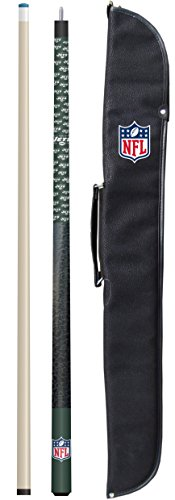 """Imperial Officially Licensed NFL Merchandise: 57"""" 2-Piece Billiard/Pool Cue with Soft Case, New York Jets"""