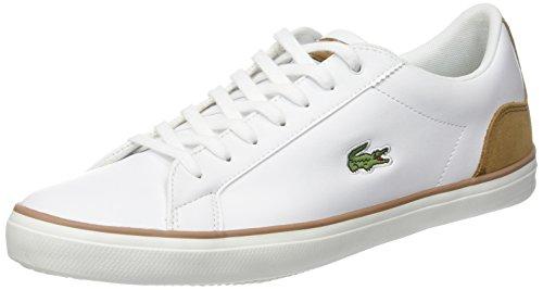 Lacoste Men Lerond 118 1 Cam Sneaker, Bianco Bianco (wht / Lt Brw)