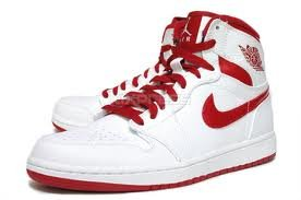 Image Unavailable. Image not available for. Color  Air Jordan 1 Retro High  332550 161 white red ... 3fd7362a9