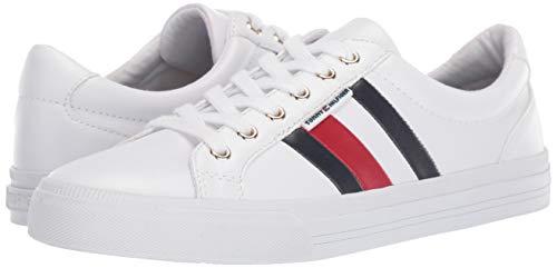 Tommy Hilfiger Women's Lightz Sneaker, White Multi, 7