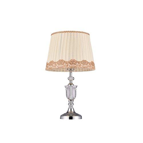 Briskaari Store- Modern Crystal Lamp Lighting Bedroom Bedside Lamp Luxury Crystal Desk Lamp with Cloth Lamp Shade by Briskaari Store