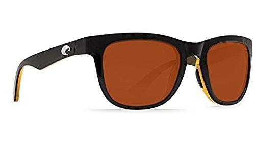 Costa Copra Sunglasses Shiny Black/Amber / Copper 580P