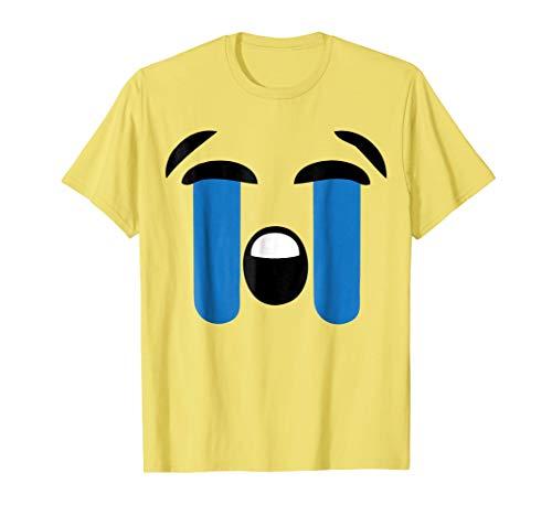 (Emoji T Shirt Halloween Costume Loudly Crying Face Emoji)