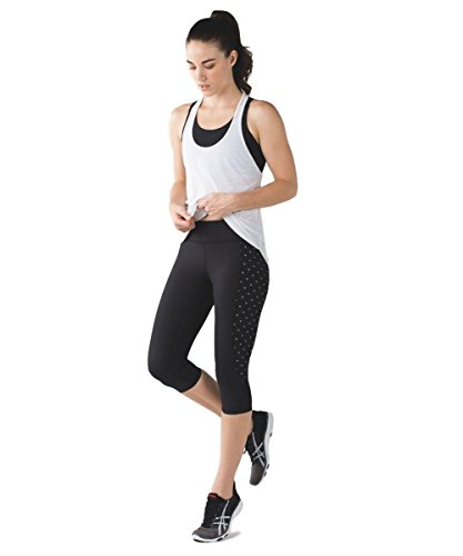 Lululemon - Tight Stuff Crop - BLK/XDOT - Size 8 by Lululemon