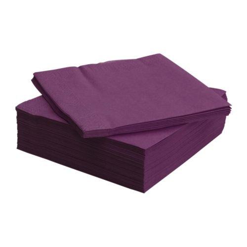 FANTASTISK 50 Pack Highly Absorbent Purple Paper Napkin]()