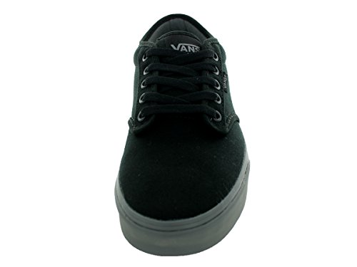 VANS Men's Atwood Skate Shoes, Durable and Comfortable Low-Top Lace-Up Style with Padded Tongue and Collar for Extra Comfort Black/Gray