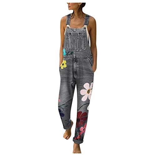 KINGOLDON Jumpsuits Women's Fashion Denim Bib Pants Sexy Long Rompers Bib Pants (Tv Vintage Looking Unit)