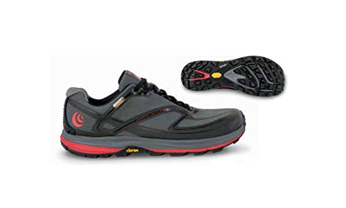 (Topo Men's Hydroventure 2 Trail Running Shoes, Charcoal/Red, Size 14)