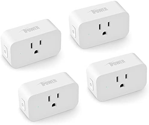 iPower Smart Plug Socket Homekit Mini Wifi Outlet Extender Switches Works With Alexa, Google Home IFTTT for Voice Control, Timer and Remote Function, FCC ETL Listed, 2.4GHz Network, 4 Pack, White