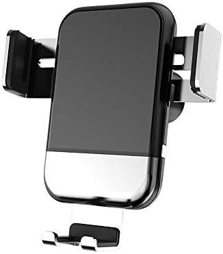 イオス/アンドロイド対応ワイヤレス充電車の携帯電話ホルダー、360°回転調節可能な車の空気アウトレットブラケット、,銀