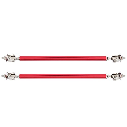 KIMISS Pair New Aluminum Alloy Material Car Support Rod To Support Non-destructive Installation Surrounded by 3M Glue (200mm-Red)