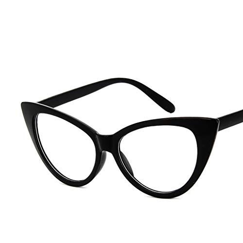 Haluoo Retro Vintage Narrow Cat Eye Sunglasses for Women Girls Plactic Frame Cateye Eyeglasses Flat Mirrored Eyewear Sun Glasses Trendy Eye Wear Shade (Black 1)