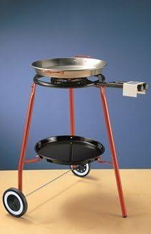 GBSHOP Kit Completo para Paella diámetro 42 (el Kit Incluye hornillo + Soporte + sartén): Amazon.es: Hogar