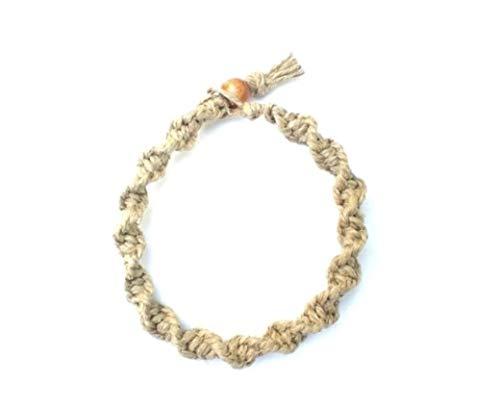 Hemp Bracelet Handmade with Natural Hemp - Spiral Twisted Style