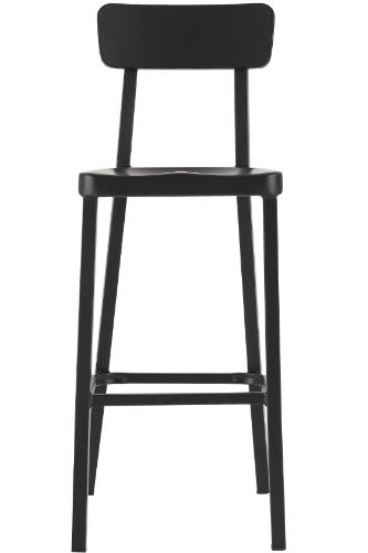 Jacob Stackable Aluminum Bar Stool, 42u0026quot;Hx17u0026quot ...