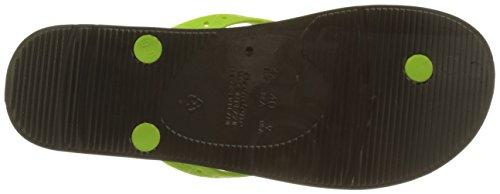Ipanema Men's Arpoador Temas HOM Flip Flops, Black Green (Grey/Green)