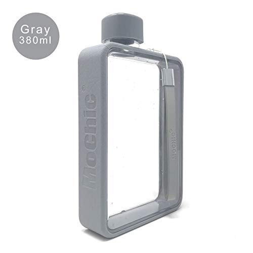 - Mochic A5 Water Bottle Flat Portable Travel Mug Handbag Slim Cold 380ml (Gray)